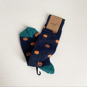 J. Crew Pumpkin Print Men's Mid Calf Socks